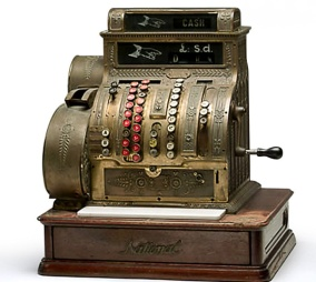 Cash register by the National Cash Register Co., Dayton, Ohio, United States, 1915.